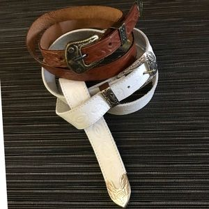 Accessories - Vintage Western Style Belt Duo